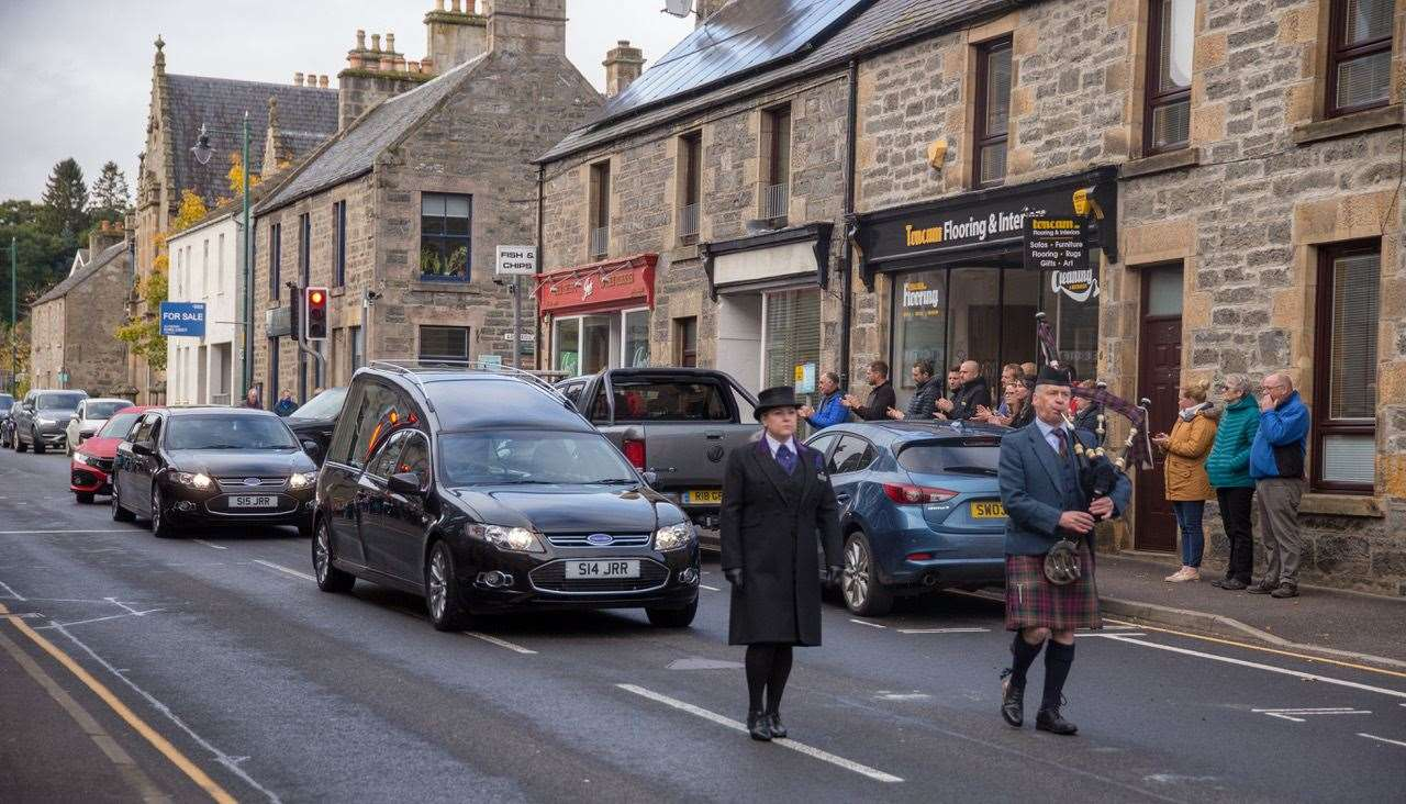 Jack Maxwell makes his farewell to Kingussie today (Aidan Woods)