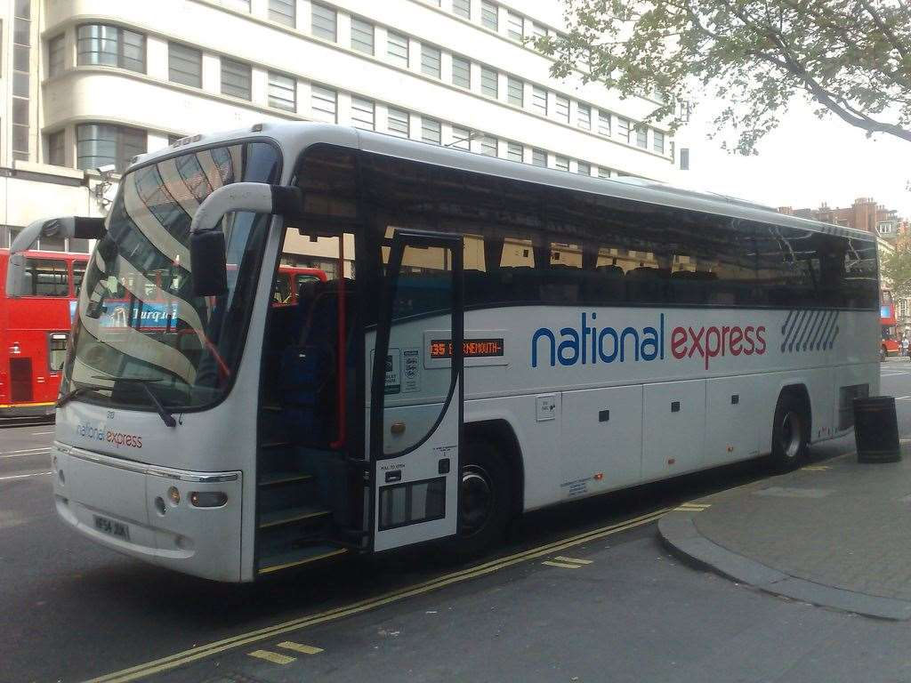 A National Express coach. Picture: James Ekema / CC BY (https://creativecommons.org/licenses/by/2.0).