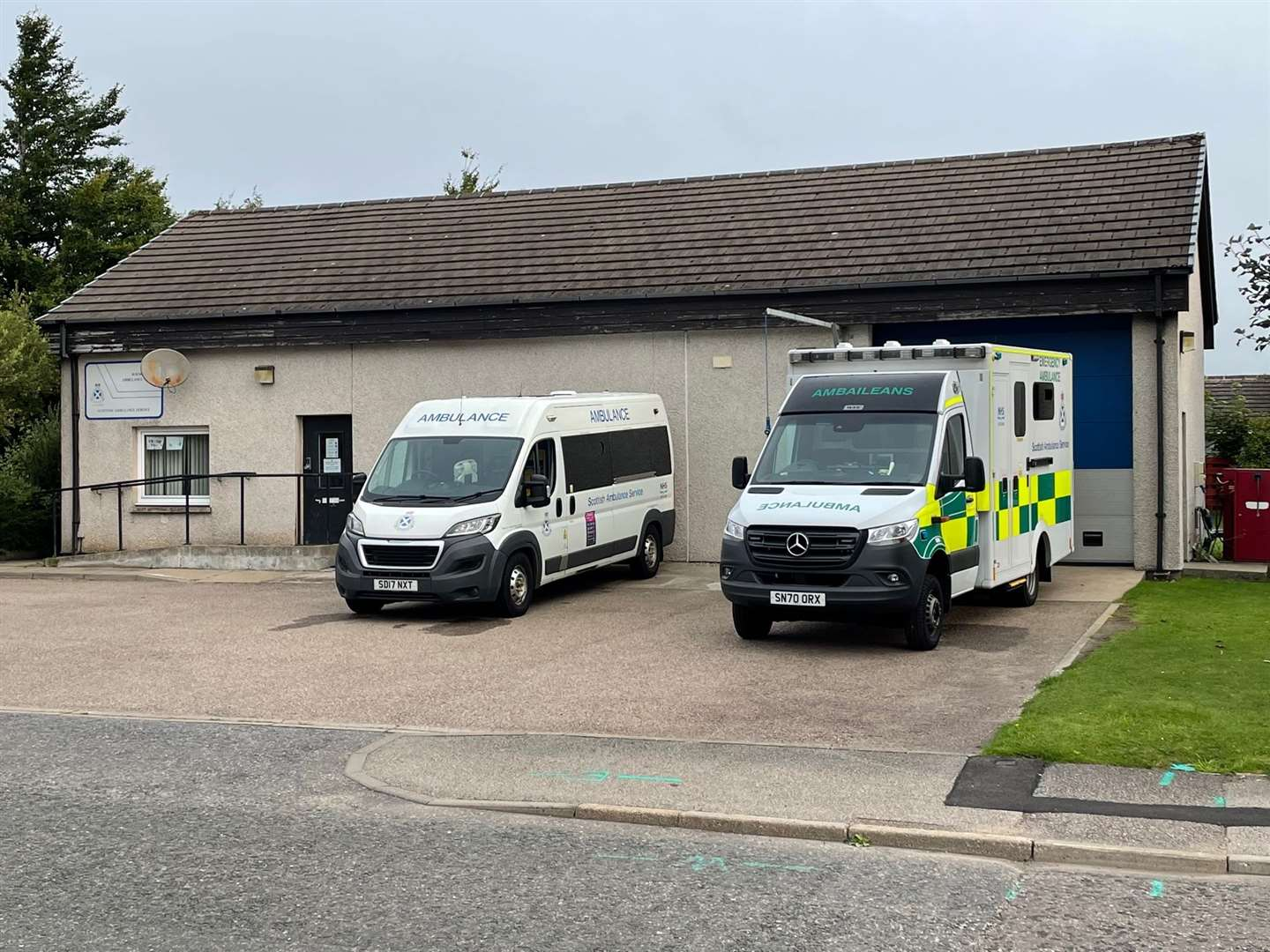 Aviemore's ambulance station which went from on-call duty to shift work earlier this year.