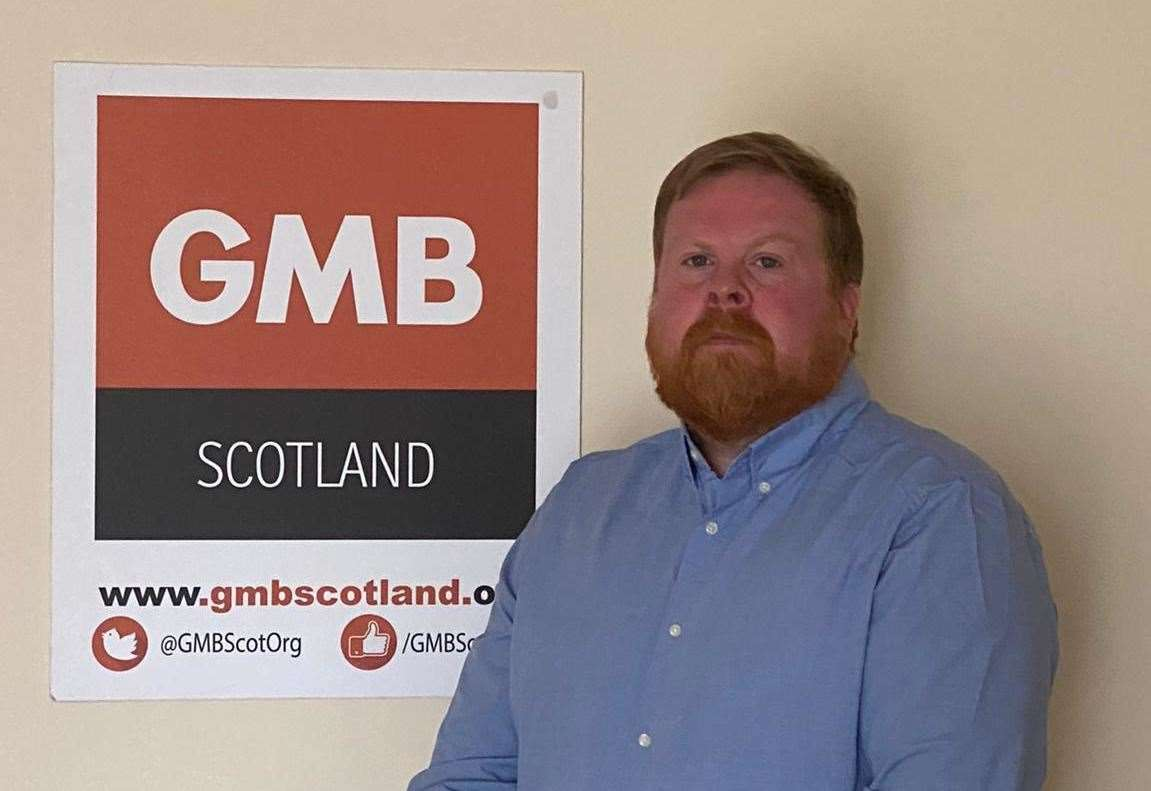 """GMB Scotland organizer John McCartney said: """"As the staff survey shows, the 1% pay rise is not acceptable."""""""