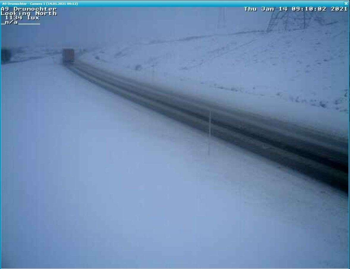 The A9 at Drumochter, looking north. Picture: Bear Scotland.