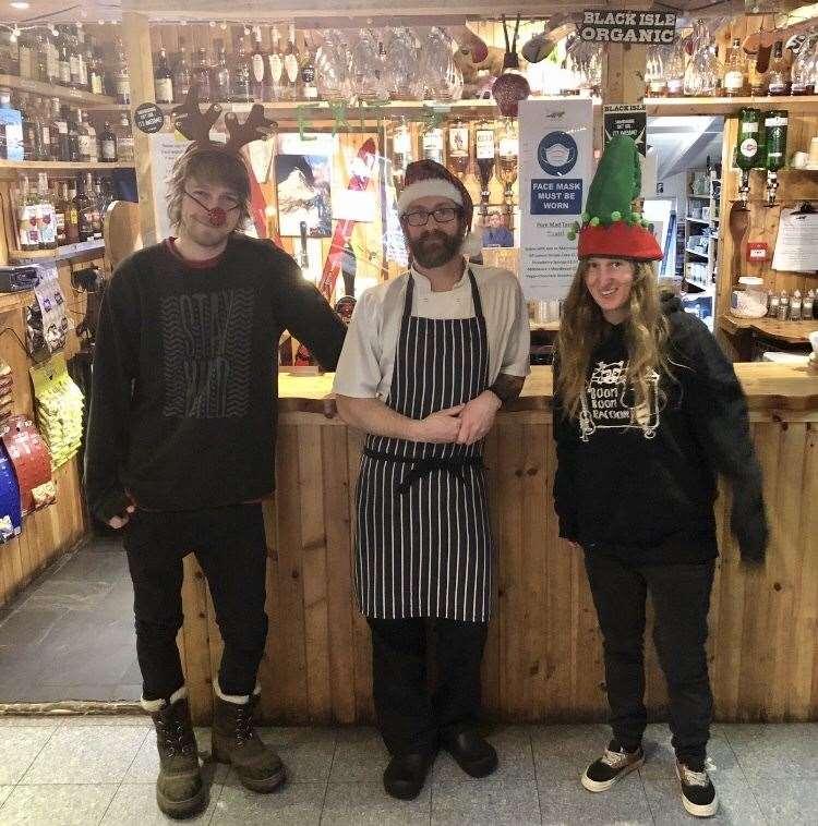 The Pine Marten's top team Scott Flemming, head chef Paul Beaton and Katie Jachacy.