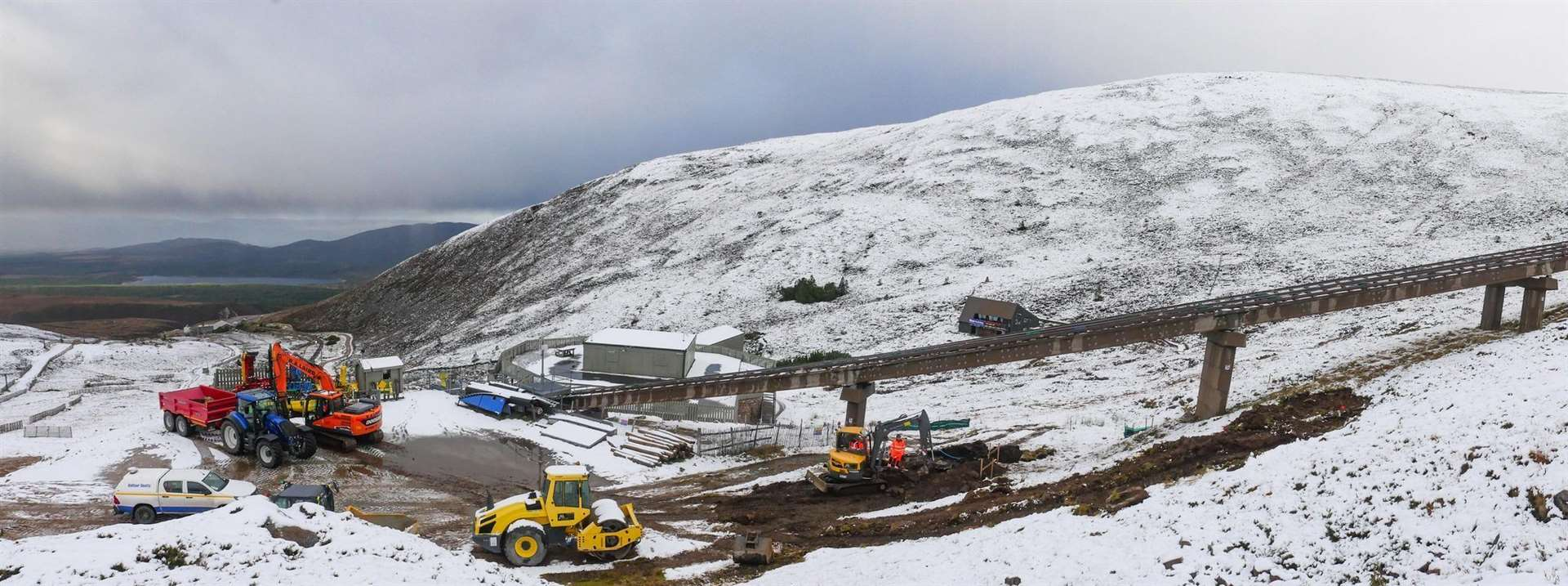 Work started earlier this week on the repair of the Cairngorm funicular by contractor Balfour Beatty.